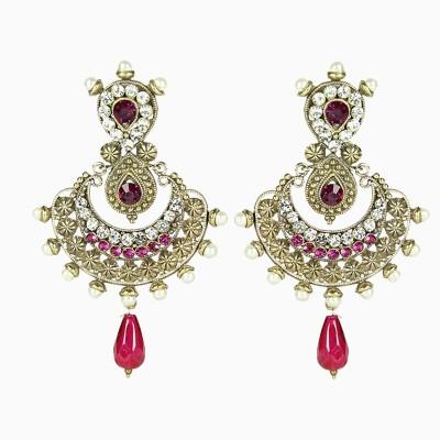 Artisan Pink victorian-earrings Metal Drop Earring