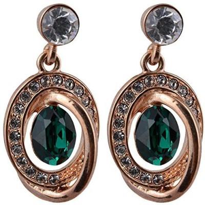 NK Jewels Cubic Zirconia Metal Drop Earring