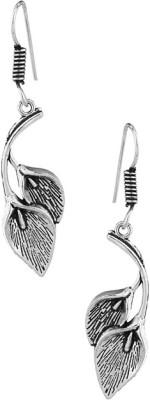 Factorywala Pair Of Oxidized Beauty Leaf Alloy Dangle Earring
