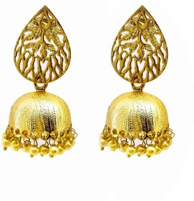 Gurjari leaf Copper Jhumki Earring