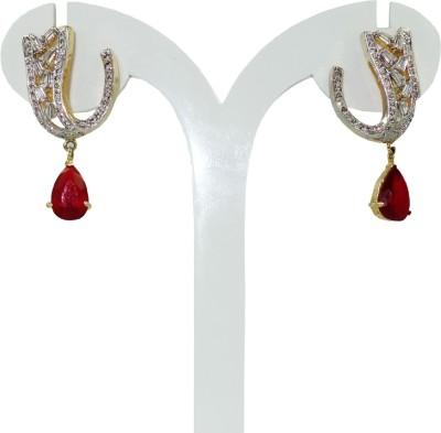 Anjan Lovely Traditional Designer Cubic Zirconia Brass Drop Earring