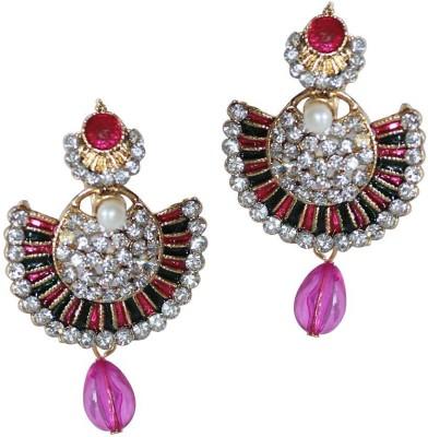 Grand Jewels Mahi3 Emerald Alloy, Brass Chandbali Earring