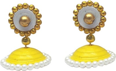 Charvee Quilling Colour Spark Paper Jhumki Earring