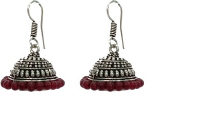 modifier Silver Hat Beads Alloy Jhumki Earring