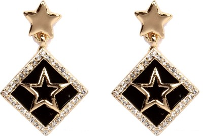Divitha Allure Hanging stars balck surrounding darlings pair from Divitha Allure. Alloy Drop Earring