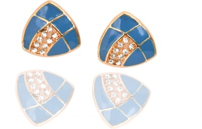 Zebs Collection Blue Alloy Stud Earring