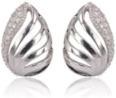 Eve's Wardrobe Twinkling Almond Zircon Brass Stud Earring