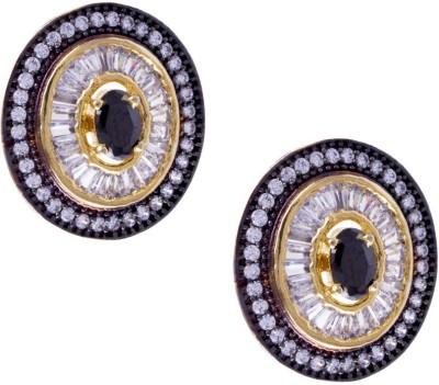 Jahnvi Round victorian Metal Stud Earring