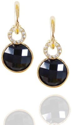 AsiaCraft Gold Plated Black Metal Drop Earring