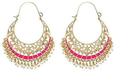 the jewelbox Filigree Chand Pearl Copper Hoop Earring