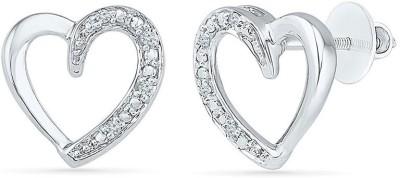 VelvetCase Interlude Heart Shape Earrings Silver Stud Earring