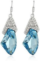 Silver Shoppee Valentine Special Crystal, Cubic Zirconia Alloy Dangle Earring