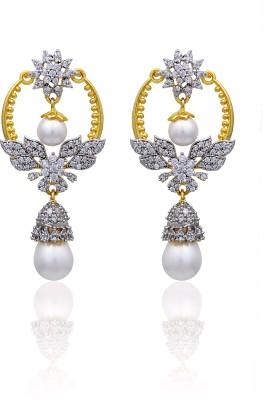 RC Designer Brass Chandelier Earring