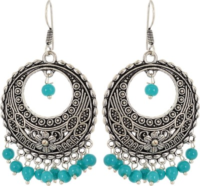Subharpit Stylish Charm Colorful Desinge Beads Metal Dangle Earring