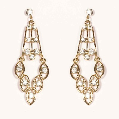 Urthn Designer Hanging in Gold-1301628 Alloy Drop Earring
