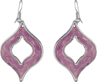 Craft Mandi Round Shape Metal Dangle Earring