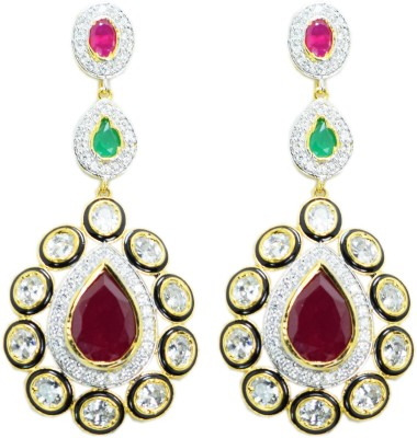 Chouhan Stylish American Diamond Stone Drop Earring