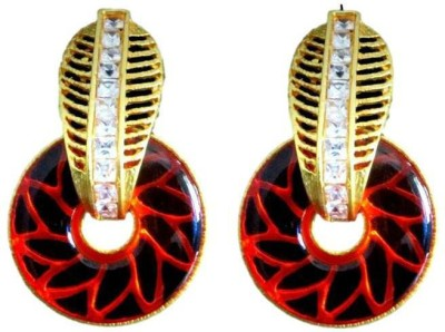 DEET Floral Alloy Plug Earring