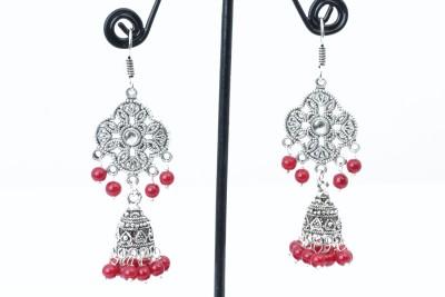 Waama Jewels pretty red Metal Dangle Earring
