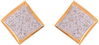 Affinity Jewellers Affinity Square Tops With CZ stones Cubic Zirconia Alloy Stud Earring