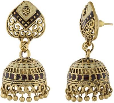 Nisa Pearls Princess Delight Alloy Jhumki Earring