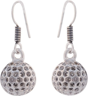 T M FASHIONS Round shaped German Silver Dangle Earring