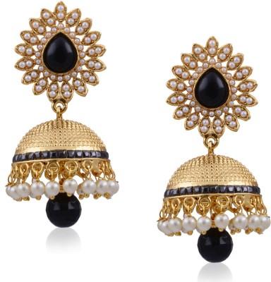 Hyderabad Jewels Beautiful Antique Jhumka Pearl Copper Jhumki Earring