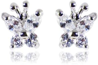 Dolls N Queens Butterfly Cubic Zirconia Copper Stud Earring