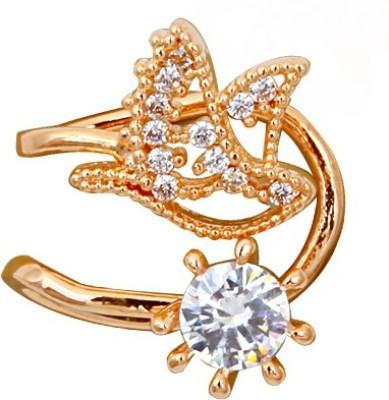 Madclozet Shimmer Bird Metal Cuff Earring