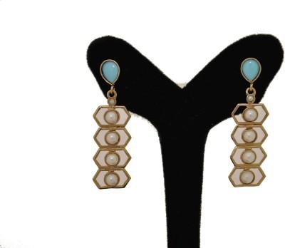 Arohi Jewells & Gems AJG50 Copper Earring Set
