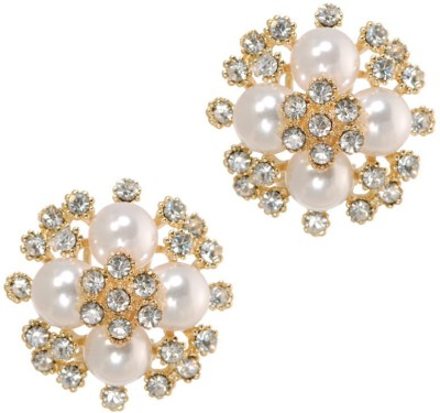 Sparkle Street Blooming Pearls Alloy Stud Earring