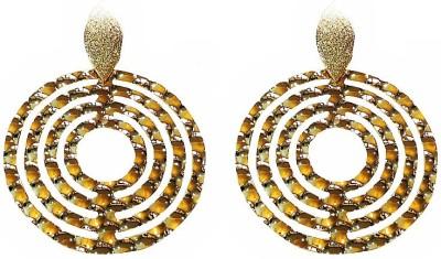 Blingxing Golden Circle Metal, Alloy Dangle Earring