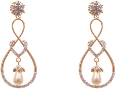 LAHARI ENTERPRISES EARINGS NEW MODEL Pearl, Zircon Alloy Earring Set