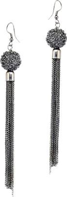 Fashion Era Sparkling Long Metal Tassel Earring