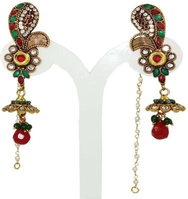 Anjan Stunning Designer Golden Alloy Drop Earring