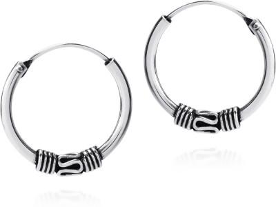 Taj Jewels Antique Twisted Brass Hoop Earring