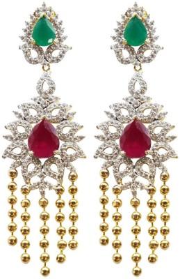 Sheetal Jewellery Cubic Zirconia Brass Chandelier Earring