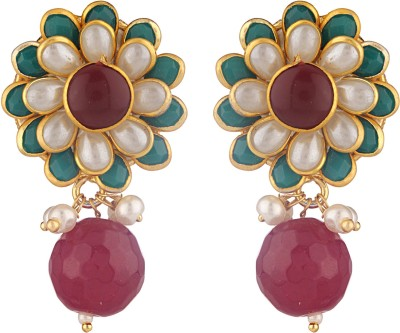Be You Gorgeous Pearl Brass Drop Earring
