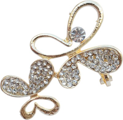 Foppish Mart Single Butterfly Studded Beads Stone Cuff Earring