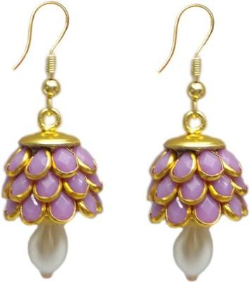 Charvee Stone Flower Design Alloy Jhumki Earring