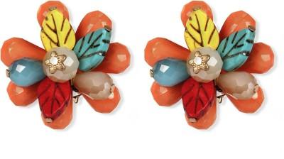 Aimez Rainbow Floral Metal Clip-on Earring