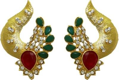 Aarnaa Designer Ruby Women Green Alloy Drop Earring