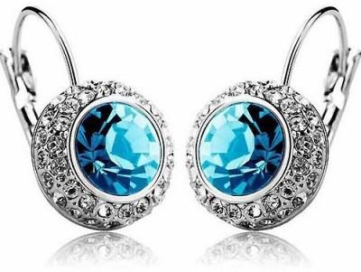 Silver Shoppee Circle Of Love Crystal, Cubic Zirconia Metal Drop Earring