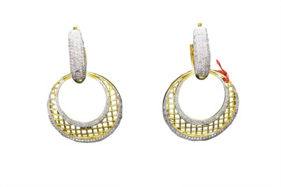 Goonj Princess Delight Cubic Zirconia Copper Chandbali Earring