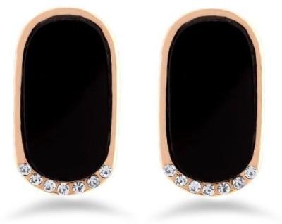 Jazz Jewellery Traditional Partywear Gold Plated Black Earring Jewellery Alloy Stud Earring