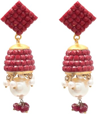 JewelAway Lamp Design Brass Jhumki Earring