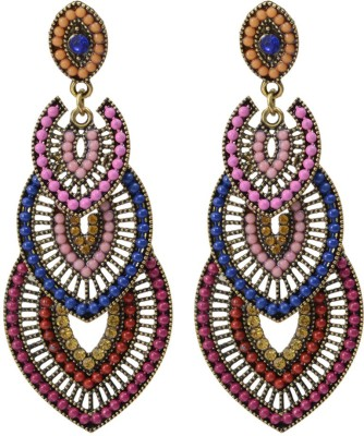 Taj Pearl Designer Alloy Drop Earring