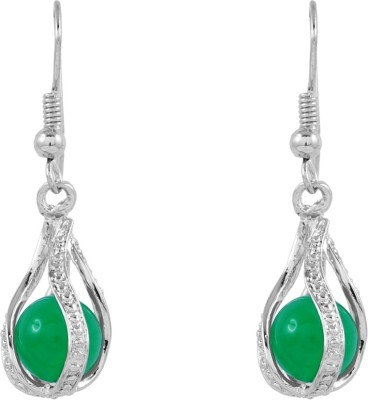 BoBell Malaysian cage elegant ball Jade Alloy Dangle Earring