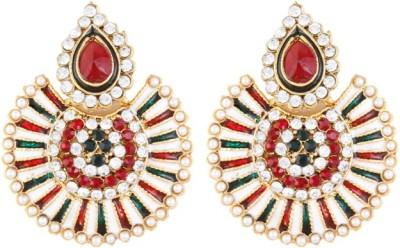Aanya Creations Exclusvie Multicolour Alloy Chandbali Earring