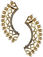 The Jewel Box Diamond Filigree Cubic Zirconia Copper Cuff Earring best price on Flipkart @ Rs. 444
